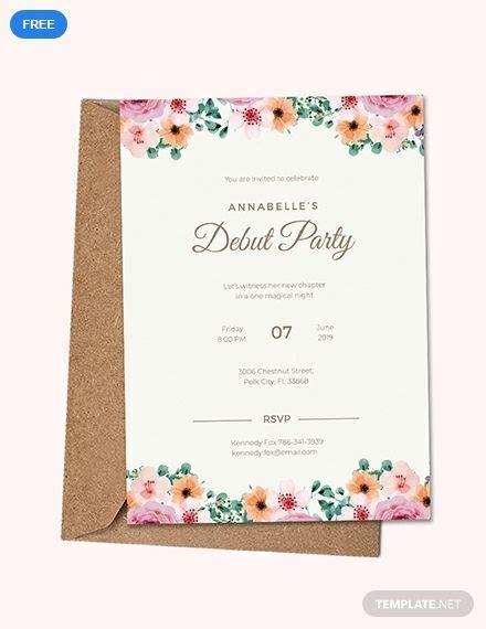 formal debut invitation   dinner invitation