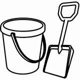 Bucket Shovel Coloring Sand Clipart Template Printable Drawing Spade Pail Clip Castle Cliparts Pattern Place Sketch Clipartbest Clipartmag Ball Utilising sketch template