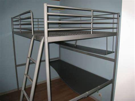 lit mezzanine 2 places bureau structure lit mezzanine 140x200 clasf