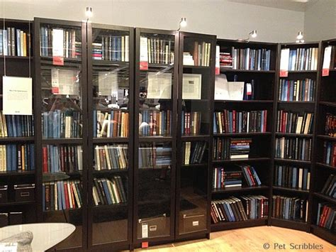 Ikea Store Display Of Billy Bookcases For Library