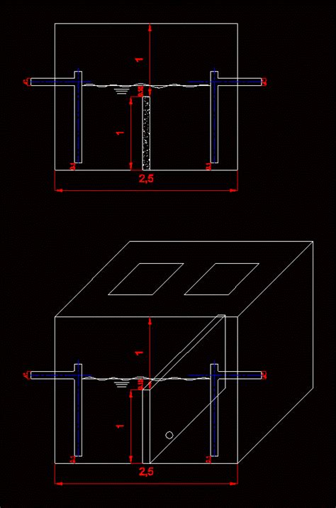 detail grease trap dwg detail  autocad designs cad