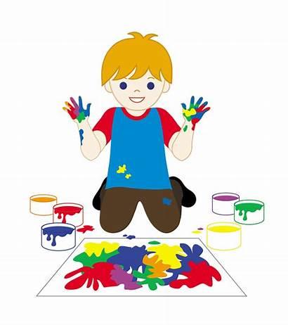 Kid Painting Clip Child Fingerpainting Fingerpaints Children
