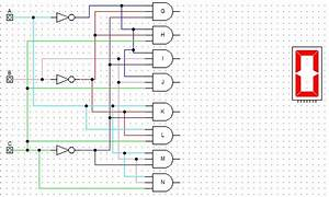 Logic Gates - 7-segment Display With Decoder