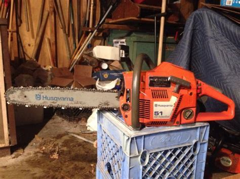 For Sale   Husqvarna 51 chainsaw, looks and runs well