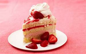 Strawberry Ice Cream Cake   Food Post