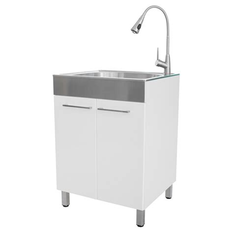 Home Depot Utility Sinks Stainless Steel by Laundry Tub With Faucet Kit Rona