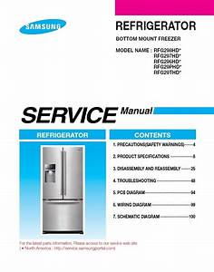 Samsung Rfg298hd Series Refrigerator Service Manual Repair