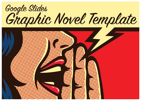 Comic book templates / graphic novel templates clipart commercial use. Google Slides Graphic Novel Template