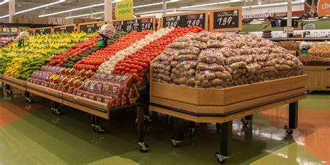 retail produce display tables produce displays cms display fixtures