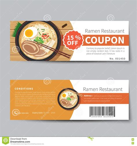 code promo cuisine store japanese food coupon discount template stock vector image 72741428