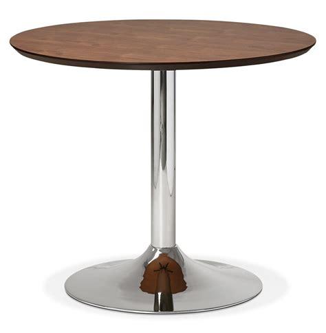 table ronde de bureau table de bureau ronde kitchen en bois finition noyer