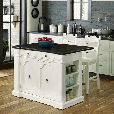 white kitchen with island home styles americana white kitchen island with seating