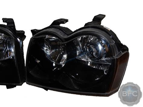 jeep black headlights 2005 2007 jeep grand cherokee complete hid projector