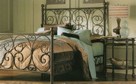 Iron Headboards And Footboards by Pewter Finish Complete Iron Scrolled King Sz Bed