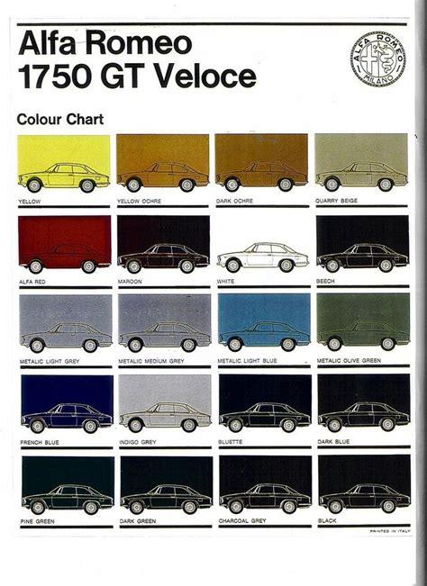 alfa romeo colour chart cars alfa romeo alfa romeo