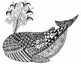 Coloring Adult Zen Adults Whale Coloriage Animals Animaux Baleine Dla Dessin Adulte Ocean Kolorowanki Colouring Tangles Mandalas Dorosłych Coloriages Doroslych sketch template