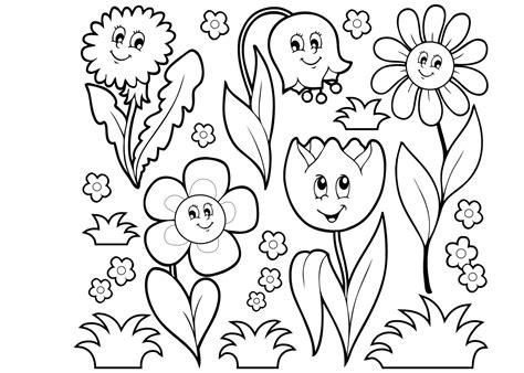 Kleurplaat Bloemen by Pin Konijn Bloem Kleurplaat On