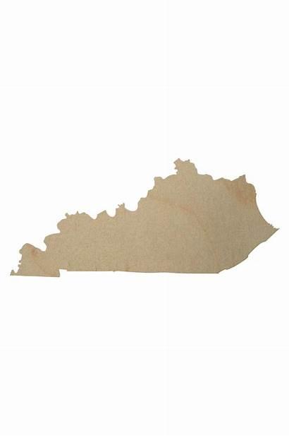 Kentucky Shape Wooden Cutout State Wood Cutouts