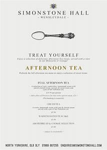 AFTERNOON TEA SIMONSTONE HALL