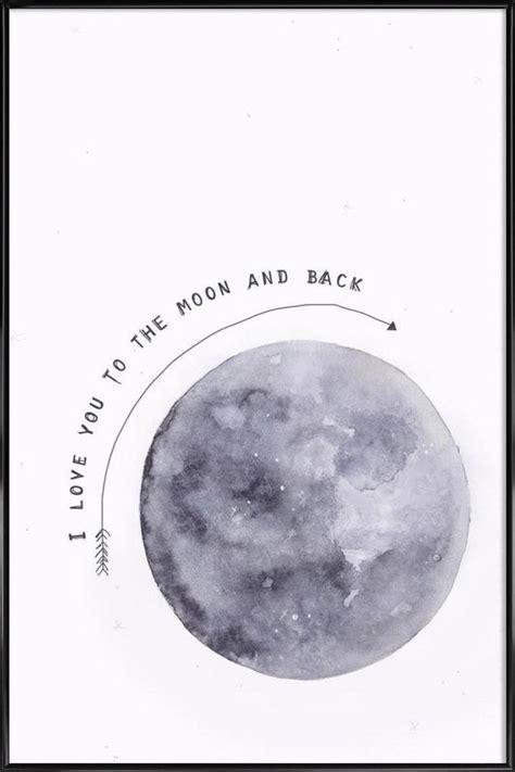 moon  poster  standard frame  maren kruth juniqe