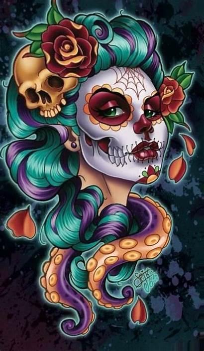 Catrina Skull Sugar Mexicana Catrinas Tattoo Tattoos