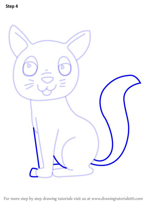 learn   draw  cartoon cat cartoon animals step