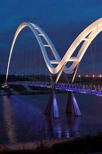 Infinity Bridge  Stockton-on-tees Lighting  England