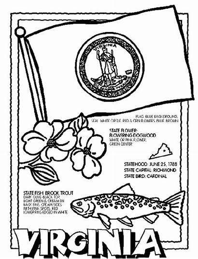 Coloring Pages Crayola Virginia State Flag Studies