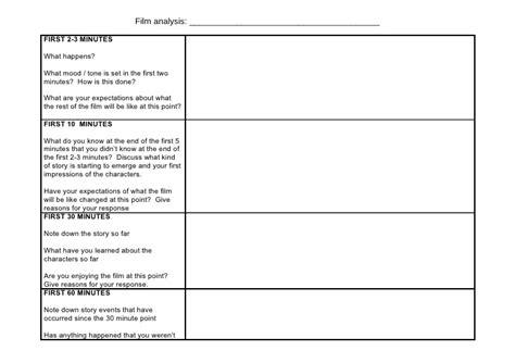 G321 Film Analysis Worksheet