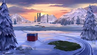 Winter Pubg Vikendi Wallpapers Map 4k Mobile