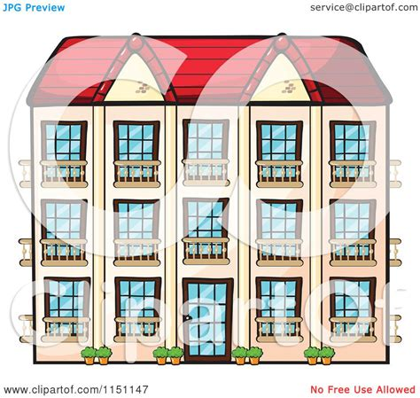 hotel clipart clipart of a hotel or apartment building royalty free
