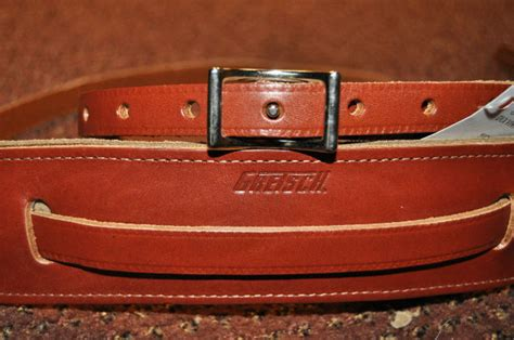 guitar gretsch strap skinny leather walnut streetsoundsnyc suredone galleries thu nov sku related straps