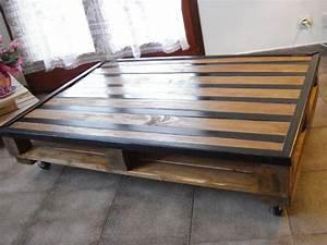 Table De Salon Bois : tables basses de salon en palettes relooker un meuble ~ Teatrodelosmanantiales.com Idées de Décoration