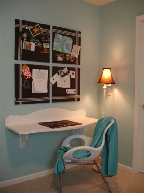 bureau simple blanc bureau suspendu idees interieur accueil design et mobilier