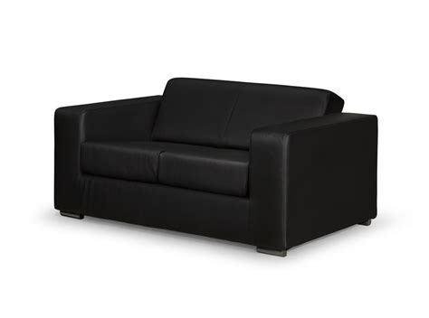 canape en cuir design canapé design 2 places en simili cuir noir