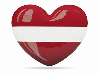 Latvia Heart Flag Icon Lettland Country Schlagerprofilerna
