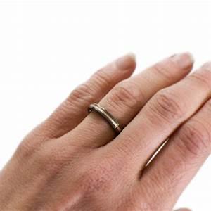 Black Wedding Ring For Her - Zirconium & Rose Gold ...