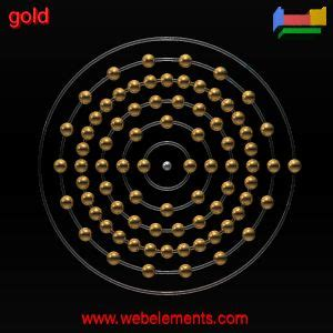 Diagram Of Atom Gold by Gold 187 Properties Of Free Atoms Webelements Periodic Table