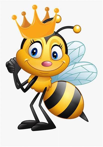 Bee Cartoon Queen Clipart Abejas Animadas Transparent