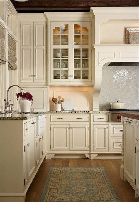 simple  elegant cream colored kitchen