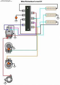 Hermetico Guitar  Wiring Diagram  Mike Richardson Mod 01