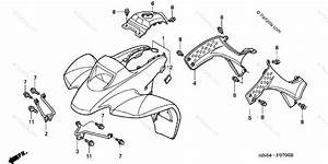 Honda Atv 2002 Oem Parts Diagram For Front Fender   U0026 39 01