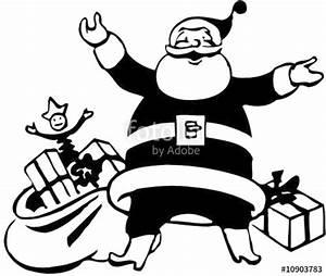 Noel Noir Et Blanc : pere noel en noir et blanc fichier vectoriel libre de droits sur la banque d 39 images fotolia ~ Melissatoandfro.com Idées de Décoration