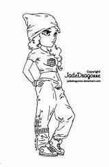Hop Hip Coloring Pages Dancer Jadedragonne Deviantart Lineart Drawing Adult Coloriage Drawings Digi Books Dance Printable Rap Stamps Outline Ink sketch template