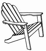 Chair Adirondack Beach Clip Chairs Drawing Outline Draw Clipart Google Lawn Folding Drawings Outdoor Watercolor Silhouette Line Adorondack Sketch Painting sketch template