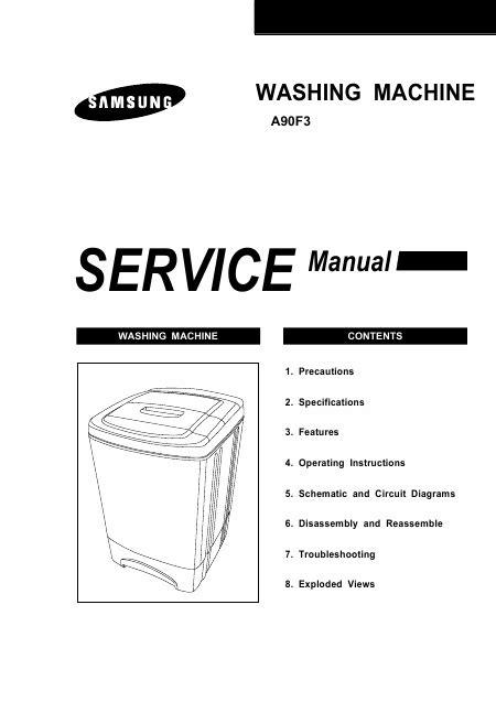 lave linge en anglais samsung wa90f3 manuel de service t 233 l 233 charger pdf lave linge anglais