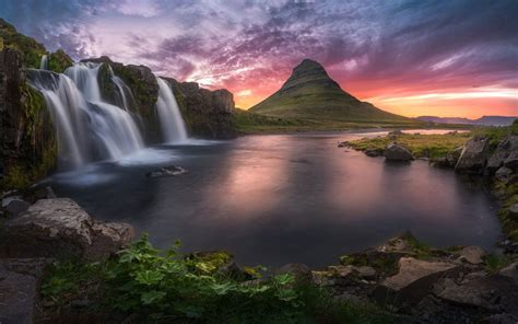 kirkjufellsfoss waterfalls kirkjufell   north coast