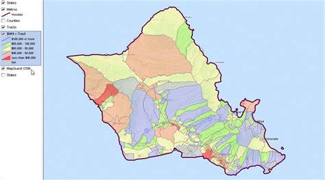 Hawaii Oahu Zip Code Map Neighborhood