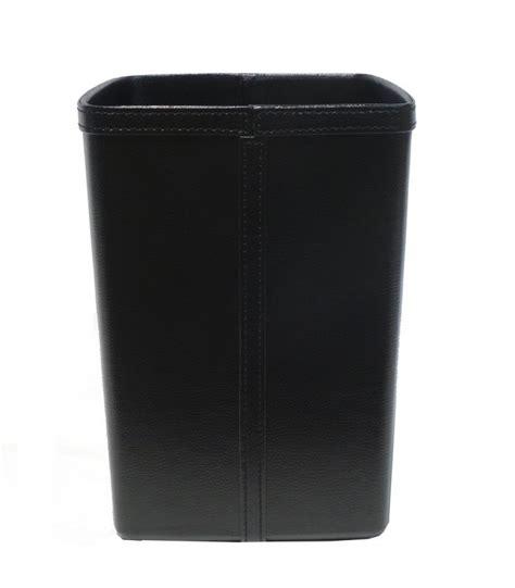 corbeille de bureau corbeille à papier de bureau en similicuir noir