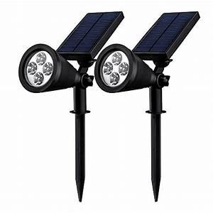 Luminaire Exterieur D Angle : double eclairage exterieur led mpow lampe solaire jardin ~ Edinachiropracticcenter.com Idées de Décoration